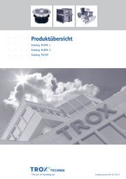 Produktübersicht - Katalog Klima 1, 2, Filter - Trox