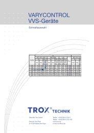 VARYCONTROL VVS-Geräte - Trox