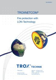 Fire protection with LON technology - TROX