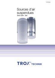 Brochure technique Série QSH et ISH - TROX