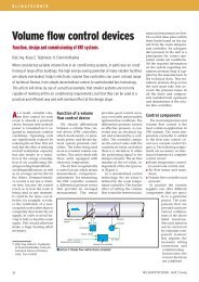 Volume flow control devices - Function, design and ... - TROX