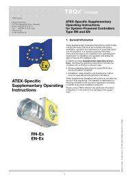 ATEX-Specific Supplementary Operating Instructions RN-Ex ... - TROX