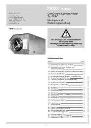 ComControl Komfort-Regler Typ TVRC Montage- und ... - Trox