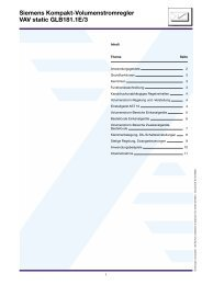 Siemens Kompakt-Volumenstromregler VAV static GLB181.1E/3 - Trox