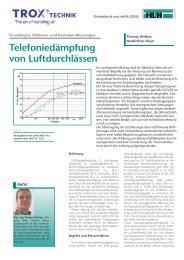 Telefoniedämpfung von Luftdurchlässen - Trox