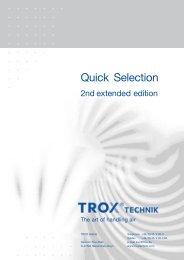 German Quick Selection Guide - TROX