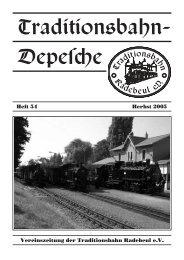 Heft 54 – Herbst 2005 - Traditionsbahn Radebeul eV
