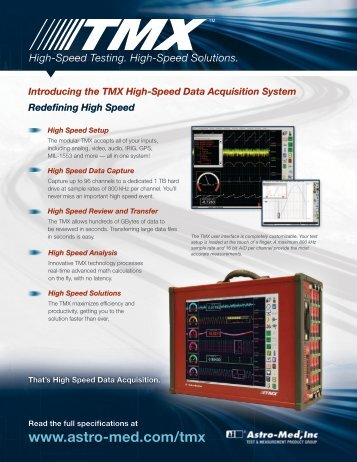 High-Speed Testing. High-Speed Solutions. Introducing the TMX ...