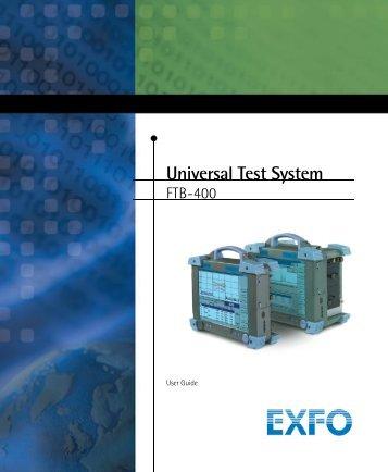 User Guide FTB-400 Universal Test System - TRS-RenTelco
