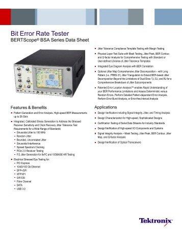 Bit Error Rate Tester - BERTScope® BSA Series - Nortelco
