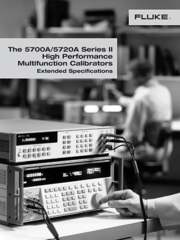 Fluke 5720A Multifunction Calibrator Data Sheet - Mr Test Equipment