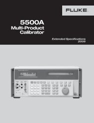 5500A Specifications