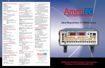 Ideal Repeaterless T1 HDSL Tester - TRS-RenTelco