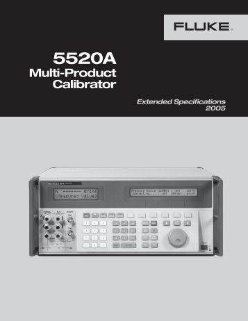 5520A Specifications