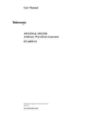 AWG510 & AWG520 User Manual - TRS-RenTelco