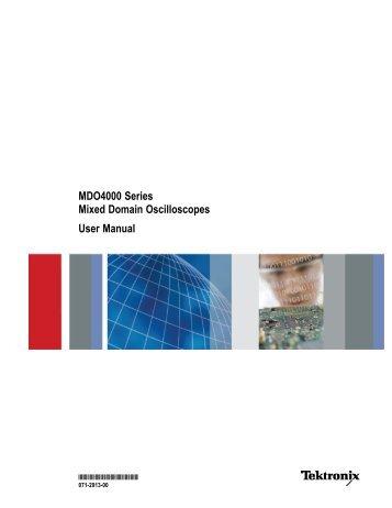 MDO4000 Series Mixed Domain Oscilloscopes ... - TRS-RenTelco