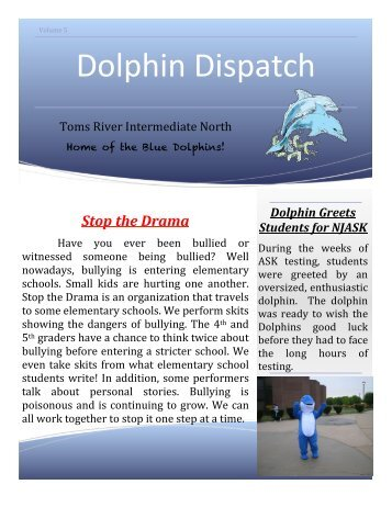 Dolphin Dispatch, May/June 2013 - Toms River Regional Schools