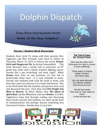 Dolphin Dispatch, March/April 2013 - Toms River Regional Schools
