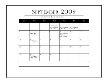 Calendar - Toms River Regional Schools