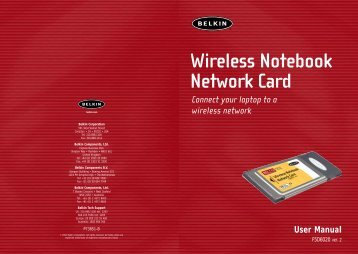Wireless Notebook Network Card Connect your laptop to a ... - Belkin