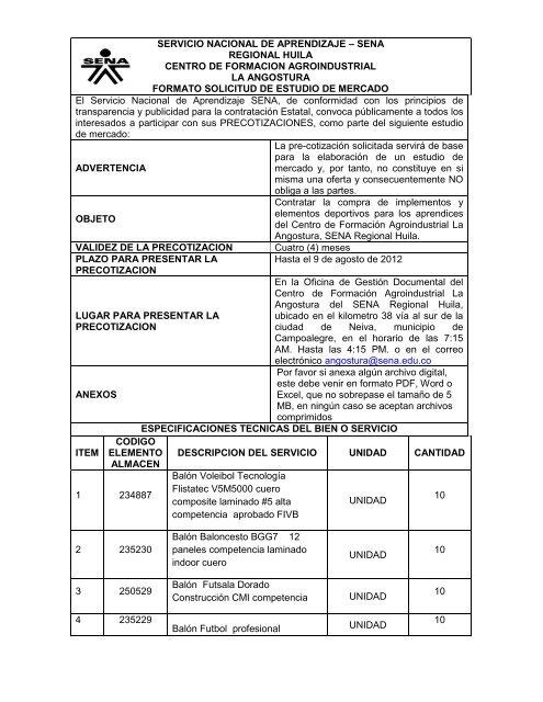 sena regional huila centro de formacion agroindustrial la angostura . de3f018f50bd6