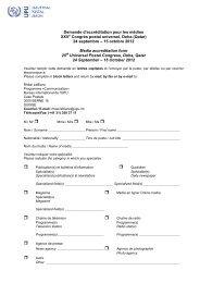 Page 1 Demande d'accréditation pour les médias XXVe Congrès ...