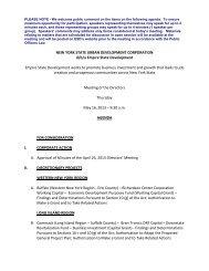 NEW YORK STATE URBAN DEVELOPMENT CORPORATION d/b/a ...