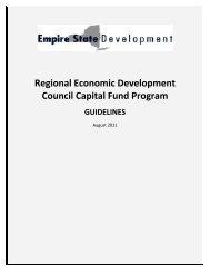 Regional Economic Development Council Capital Fund Program