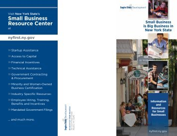 Small Business Resource Center - Empire State Development - New ...