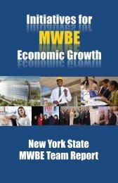 MWBE Team Report - Empire State Development - New York State