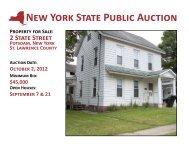 2 State Street, Potsdam Brochure - New York State Surplus Properties