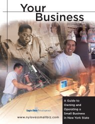 Your Business Booklet - Empire State Development - New York State