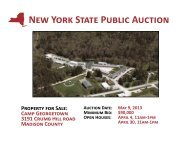 Camp Georgetown Auction Brochure - New York State Surplus ...