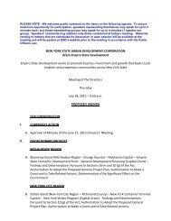 Agenda - Empire State Development - New York State