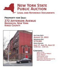 New York State Public Auction Legal and Reference Documents ...