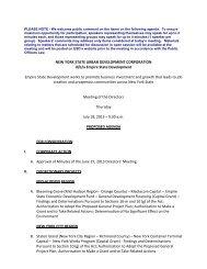 Board Materials - Empire State Development - New York State
