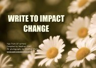 writing for change - Tamarack CCI