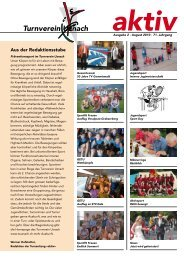 aktiv August 2010 - Turnverein Uznach