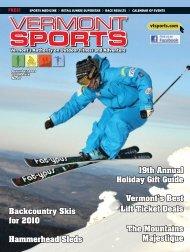 December 2009 - Vermont Sports Magazine