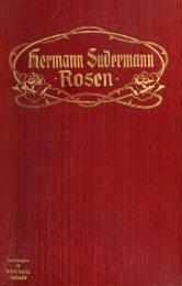 Rosen, vier Einakter - Scholars Portal