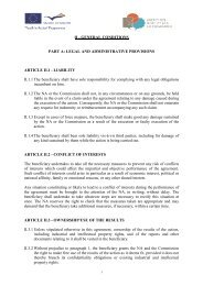 II - GENERAL CONDITIONS PART A: LEGAL AND ...