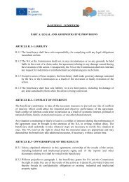 II-GENERAL CONDITIONS PART A: LEGAL AND ADMINISTRATIVE ...