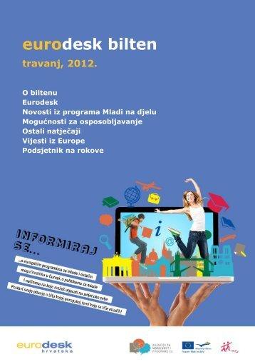 Eurodesk bilten travanj - Agencija za mobilnost i programe EU