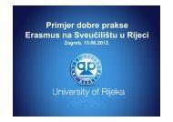 Primjer dobre prakse Erasmus na Sveučilištu u Rijeci