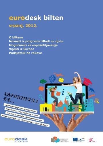 Eurodesk bilten srpanj - Agencija za mobilnost i programe EU