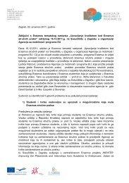 Zaključci s Erasmus tematskog sastanka - Agencija za mobilnost i ...