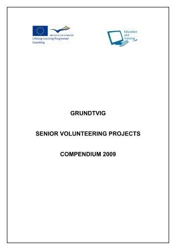 grundtvig senior volunteering projects compendium 2009