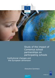 Study of the impact of Comenius school partnerships on ...