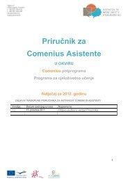 Priručnik za Comenius Asistente - Agencija za mobilnost i programe ...