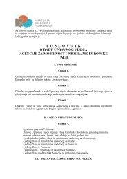 Poslovnik o radu Upravnog vijeća - Agencija za mobilnost i ...